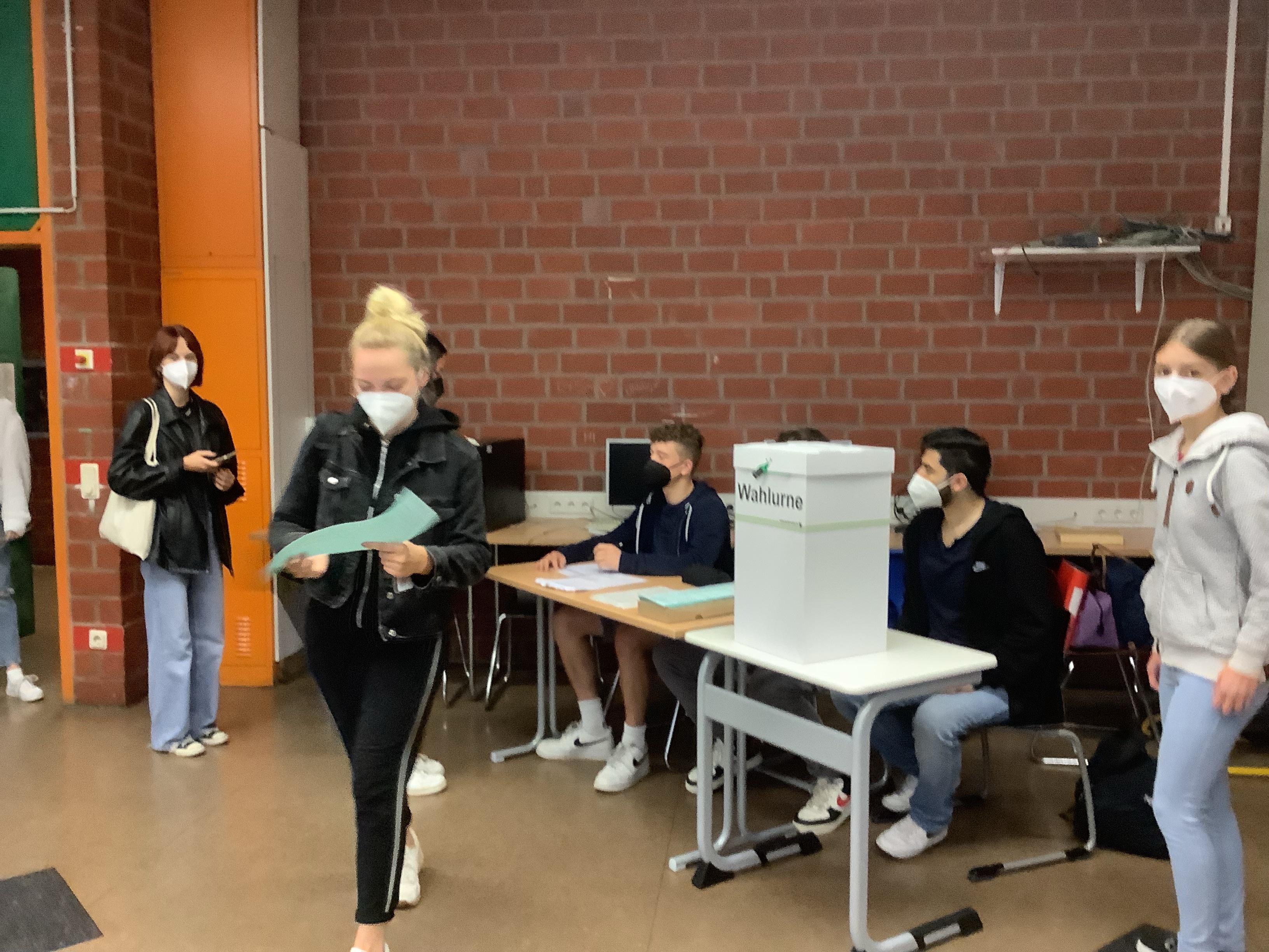 Bündnis 90/ Die Grünen gewinnen die Bundestagswahl (Juniorwahl) 2021 am PKG